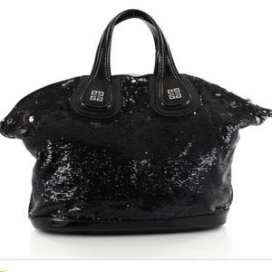 Givenchy black sequin/ patent leather nightingale